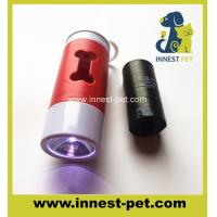 Wholesale LED dog cleaning product poop waste bag holder, bone dispenser with light for PE pet plastic poo bag from china suppliers