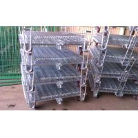 Buy cheap Welded Wire Mesh Storage Cages On Wheels Easy Maintenance Loading Unloading from wholesalers