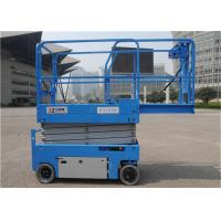 Buy cheap Engine Powered  Indoor Scissor Lift 4 Wheel Drive Self Leveling Jack For Constuction from wholesalers