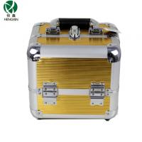 Wholesale Double Open Gold Paintting Aluminum Cosmetic Case with Inside Trays from china suppliers