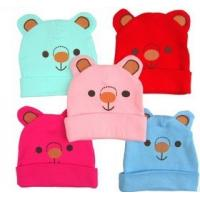China Cute colorful bear pattern cap snow cap sloppy beanie winter warm best gift for kids on sale