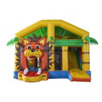 Buy cheap 5X6 Meter Inflatable Bouncer Castles / Little Lion Theme Inflatable Slide Combo from wholesalers