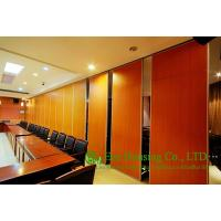 Melamine Finished Movable Partition Wall For Meeting Room, Wood Grain Color Manufactures