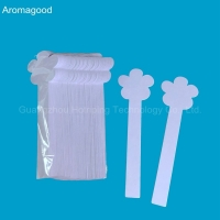 Buy cheap Hot sale paddle shape paper perfume tester blotter famous perfume scent tester from wholesalers
