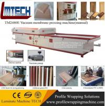Buy cheap plastic covered cabinet doors Vacuum Membrane Press Machine from wholesalers