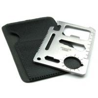 Buy cheap 11-Function Stainless Steel Credit Card Size Survival Pocket Tool Knives from wholesalers
