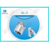 Buy cheap 45 Degree Flexible aluminum pipe connectors Die casting AL -3 Anodizing Silver from wholesalers