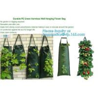 Buy cheap 4 Pockets Permeable Non-woven fabric 26x65cmx1mm Vertical Wall Planting Bag for flower vegetable lettuce ferns, bagease from wholesalers