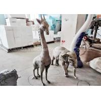 Buy cheap Indoor Mini Size Fiberglass Animal Statues Giraffe And Elephant Statues from wholesalers