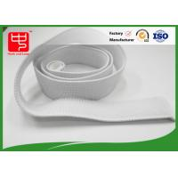 Buy cheap White Elastic Hook And Loop Straps With 100% Nylon Material No Pollution from wholesalers
