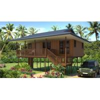 Buy cheap Prefab Light Steel Structure Beach Bungalows Wooden Look House product