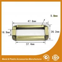 Buy cheap Buckle Inner 37.4MM Antique Brass Classic Adjustable Square buckle For Handbags from wholesalers