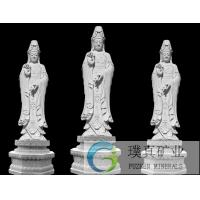 Buy cheap Stone carving Kuanyin Buddha carved white marble dripping Guanyin religious Avalokitesvara statue sculpture from wholesalers