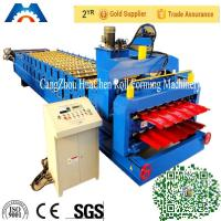 Buy cheap Glazed Roof Tile Double Layer Roll Forming Machine Width 1200mm / 1220mm product