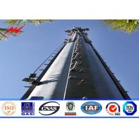 Square 160 ft Lattice Transmission Tower Steel Structure With Single Platform Manufactures