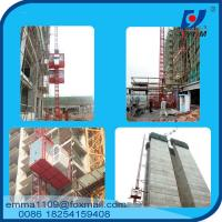 Buy cheap 4tons VFD / FC control Rack and Pinion Building Hoist With Mast Sections from wholesalers