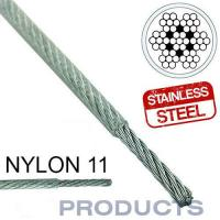 Buy cheap Clear Coated Steel Wire Rope 11 Stainless Steel Metal Large Safety Factor from wholesalers