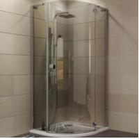 Buy cheap Indoor Aluminium Shower Cubicles Sliding Door Sanding / Clear Surface from wholesalers