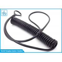 Buy cheap Black Extension Spring Safety Cable Steel Coil Tool Lanyard Hanging Rope from wholesalers