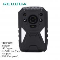 Buy cheap 1440P HD 4G/WIFI Real Time Video with GPS Fire-proof Body Worn Camera from wholesalers