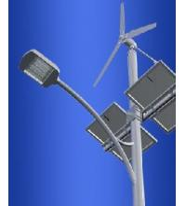 China 100W Outdoor Solar 18 / 32V dc wind 12 / 24V ac hybrid street light fixtures -5℃ - 55℃ on sale