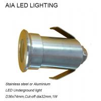 Stainless stell waterproof outside 1W LED inground light Manufactures