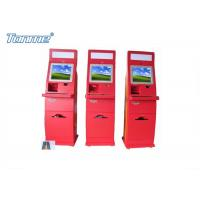 Buy cheap Waterproof Red Self Service Bill Payment Kiosk Credit Card Cash Acceptable 17Inch 19Inch from wholesalers