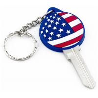 Buy cheap PVC Patriotic American Flag Kw10 SC1 Key Blanks For Kwikset And Schlage Locks from wholesalers