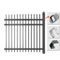 Buy cheap 1200mm 1800mm Height Spear Top Tubular Picket Fence from wholesalers