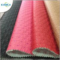 Buy cheap Best Price glitter Synthetic pu embroidered Shoe Leather from wholesalers