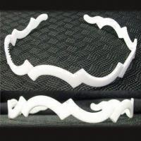 Wholesale White Plastic Headband, Various Sizes are Available, with Fabric, Ribbon and Beading from china suppliers