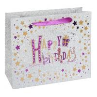 Buy cheap custom  Large Size Advertising Paper Bags With Ribbon Handle For Package from wholesalers