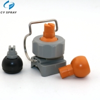 Buy cheap High Quality Single Clamp Ball Type  Full Cone Nozzle Adjustable Ball Clip Eyelet Spray Nozzle from wholesalers