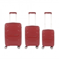 Wholesale Red Polypropylene Lightweight Travel Cabin Luggage Sets from china suppliers