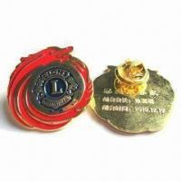 Buy cheap Engraved/Painted Badge Pins with Butterfly Fitting as Souvenir Gifts and Customized Sizes Welcomed from wholesalers
