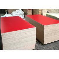 Buy cheap Red Color Melamine Faced Plywood , Hardwood Core Plywood Polished Surface from wholesalers