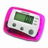 Buy cheap Mini Multifunction Pedometer with Step, Calorie, Kilometer, Mile and Stride/Weight Setting from wholesalers