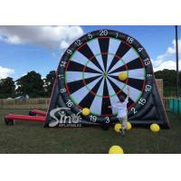 Buy cheap 4 Meters High Outdoor Giant Inflatable Football Darts Board For Kids N Adults Interactive Games from wholesalers