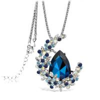 Sapphire gemstone long chain moon pendant necklace Manufactures