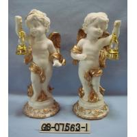 Buy cheap Beautiful Polyresin Cartoon Cupid Figurine With Lanterns For Home Decoration from wholesalers