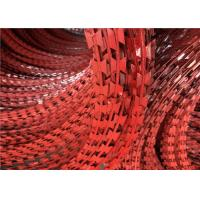 Buy cheap Custom Red Powder Coated BTO-22 Galvanized Razor Barbed Wire With Competitive Price For Fence from wholesalers