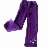 Buy cheap Children's Knitted Pants with 80% Cotton and 20% Polyester Fleece Shell Fabric from wholesalers