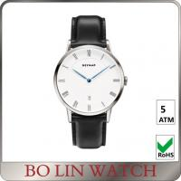 Buy cheap White Dial Stainless Steel Minimalist Wrist Watch For Ladies Water Resistant from wholesalers