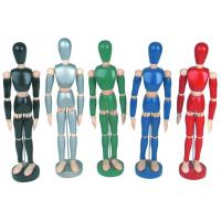 China Life - Sized Wooden Drawing Figure Model , Colourful Flexible Poseable Art Mannequin on sale