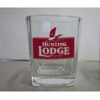 Buy cheap Printing Logo Clear Glass Cup High White Glass Round Height 9.3cm As Gift from wholesalers