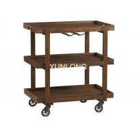 Buy cheap Espresso Wood Party / Bar Cart , Stemware / Wine Glass Holder from wholesalers