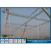 Buy cheap 230KV Electrical Power Substation Steel Structures with Hot Dip Galvanization from wholesalers