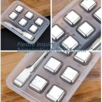 Buy cheap Free Stainless Steel Ice Cube Dice Ice Cube Whisky Stone, New Stainless steel ice cubes Square shape whiskey stone, pac from wholesalers