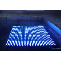 Waterproof Blue Color PH20mm 640mm * 640mm  color Rental Curtain LED Screen Display Manufactures