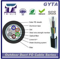 Buy cheap 2 - 288 Core Duct Outdoor Fiber Optic Cable Corrugated Alu Tape Single Armour Material from wholesalers